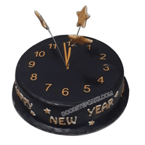 New Year Watch Photo Cake