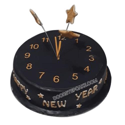 New Year Watch Photo Cake
